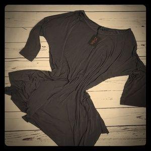 Pol ladies size L tunic/dress top nwt gray 3/4